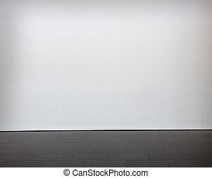 blank muur