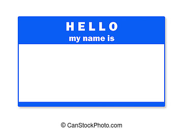 Blank name tag - A blank name tag with clipping path for use...