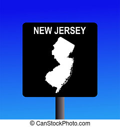 New Jersey highway sign - Blank New Jersey highway sign on...
