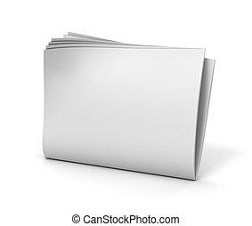blank newspaper isolated  3d illustration