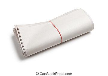 Blank Newspaper Roll