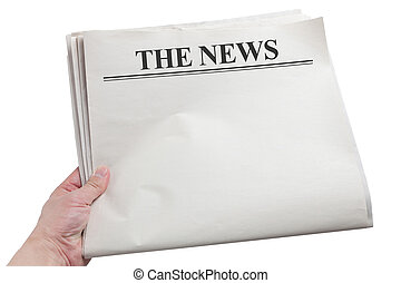 Newspaper - Blank Newspaper with white background