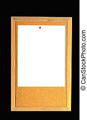 Blank Note on Bulletin Board