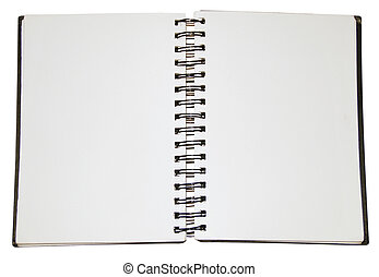 Blank Note Pad isolated on white Background