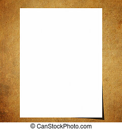 Blank note paper on old board background