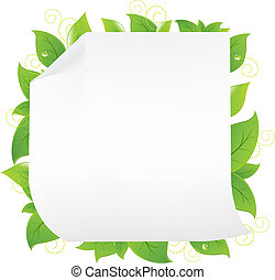 Blank Note Paper With Sprout