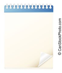 Blank Notebook Diary Vector
