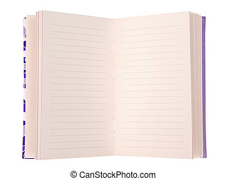 Blank Notebook isolate on white (clipping path)