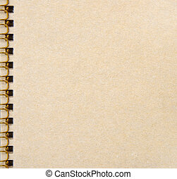 blank notebook isolated on white background with edge binding metal.