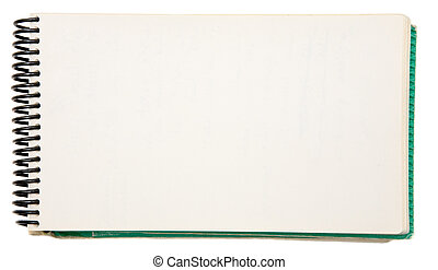 Blank Notebook - Open blank notebook on a white background