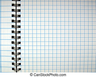 Blank notebook page - Notebook note pad page