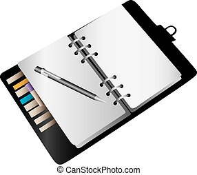 A blank notebook planner background.