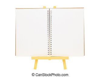 blank notepad and easel - blank spiral notepad and wooden...