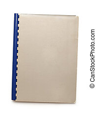 Blank notepad on white background