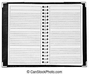 Blank notepad with spiral at middle
