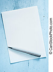 Blank Notepaper with Pen