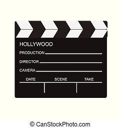 blank of director clapboard isolated on transparent background vector illustration