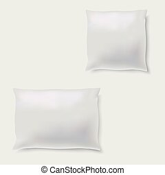 Blank of pillow on grey background. Vector.