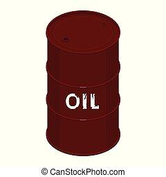 Blank oil barrel