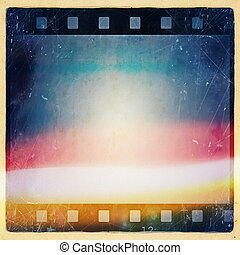 blank old grunge film strip frame