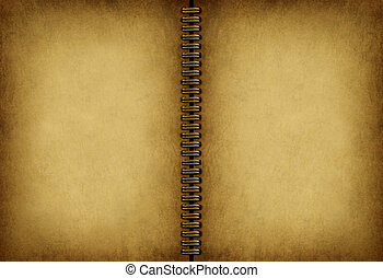 Blank Old Note book - Blank old note book with an antique ...