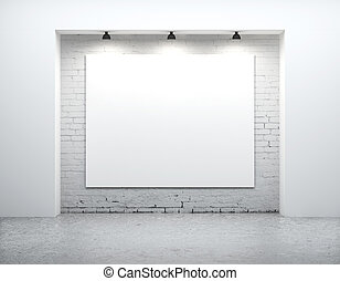 blank on wall - concrete room with poster on wall