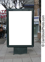 Blank One Vertical Poster Billboard - Including clipping ...