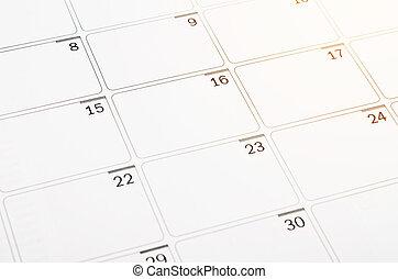 Blank open calendar page.