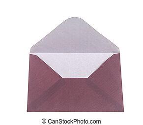 Blank open envelope - Blank envelope isolated on white...