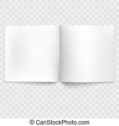 Blank open magazine isolated. EPS 10 vector