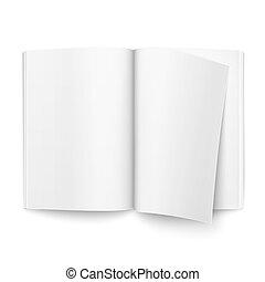 Blank open magazine template.