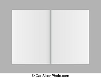 Blank open magazine template