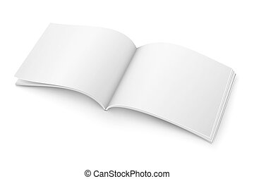 Blank open magazine template. Wide format