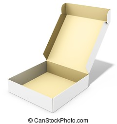 blank open merchandise  box