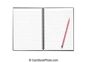Blank open notebook
