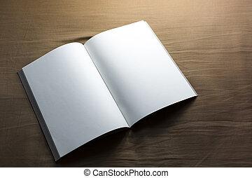 open notebook - blank open notebook