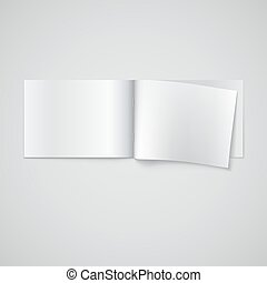 Blank opened magazine template