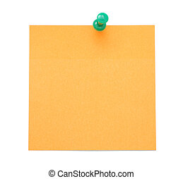 Blank orange post-it note