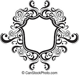 blank ornamental emblem with classic design elements, use for logo, frame, vector format very easy to edit, individual objects