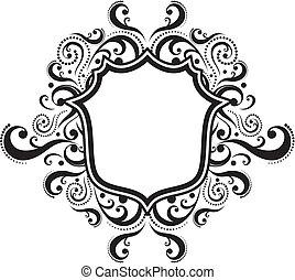 emblem - blank ornamental emblem with classic design ...