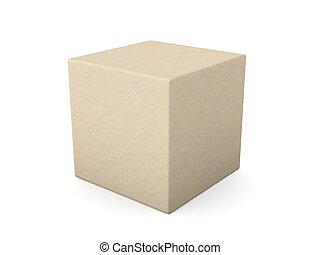 Blank Package  - 3D Illustration.
