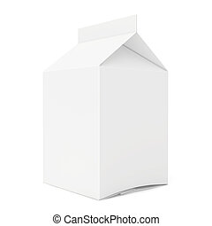 Blank package. 3d render on white background