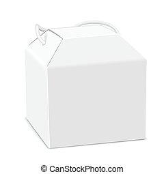 blank package box