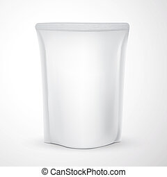 blank packaging template isolated over white background
