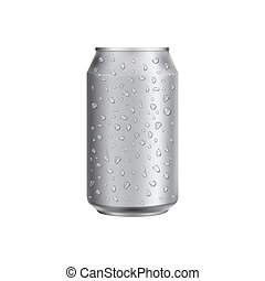 Blank white collapsible beer can koozie mockup isolated, side view ...