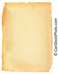 Blank page - A blank piece of decaying, old paper