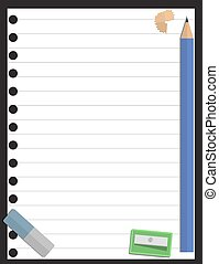 Blank page and stationery