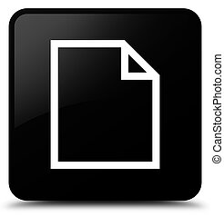Blank page icon black square button