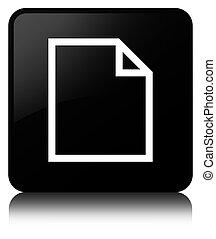 Blank page icon black square button
