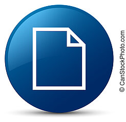 Blank page icon blue round button